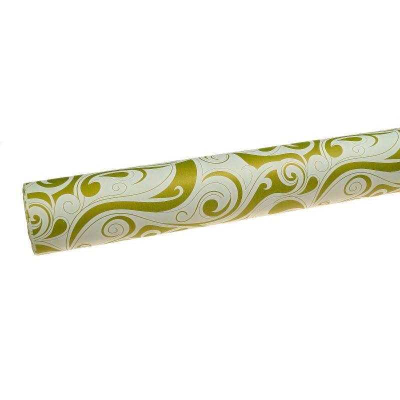 Papier satynowy we wzory - oliwkowy