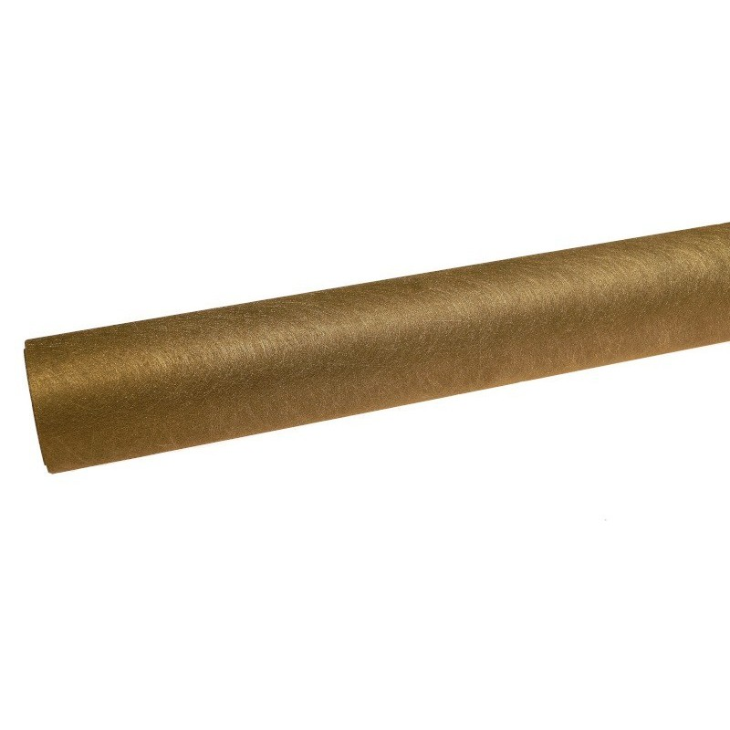 Flizelina koreańska ze złotą nitką - ciemna oliwka