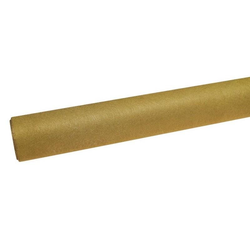 Flizelina koreańska ze złotą nitką - jasna oliwka