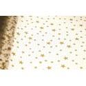 Celofan w złote gwiazdki - 50 cm x 70 cm