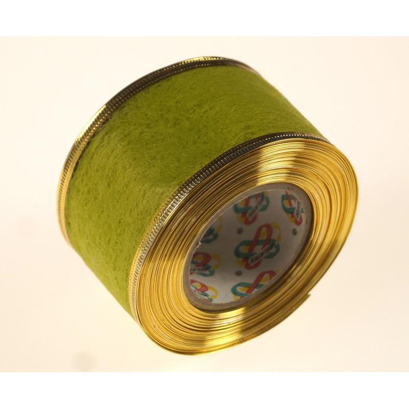 Flizelina wstążka - 4 cm x 10 m | Z27z - Oliwkowy jasny