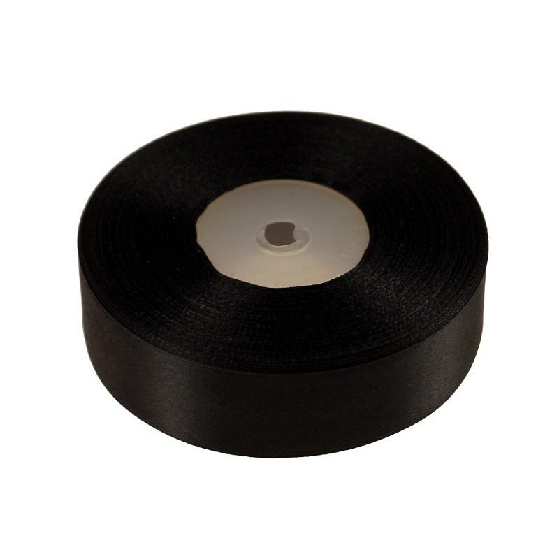 Wstążka satynowa 25mm x 32m |Czarny