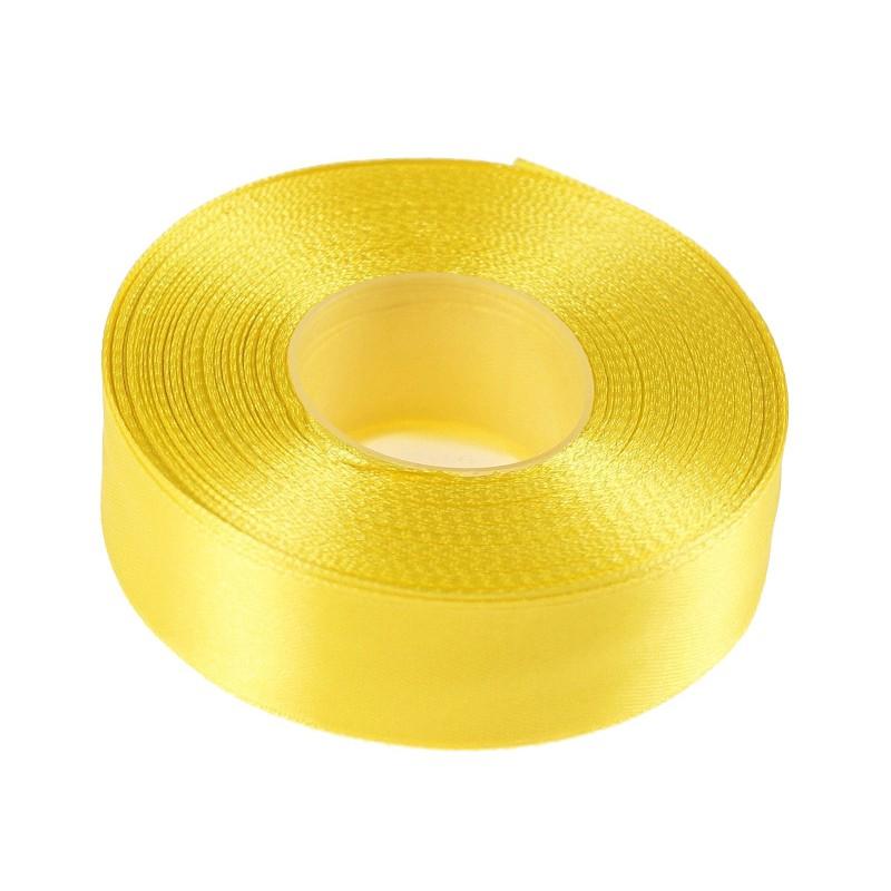 Wstążka satynowa 25mm x 32m |Żółty