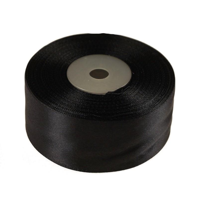 Wstążka satynowa  38 mm x 32 m |Czarny