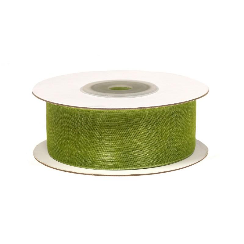 Wstążka szyfonowa 25 mm x 22 m - zielona