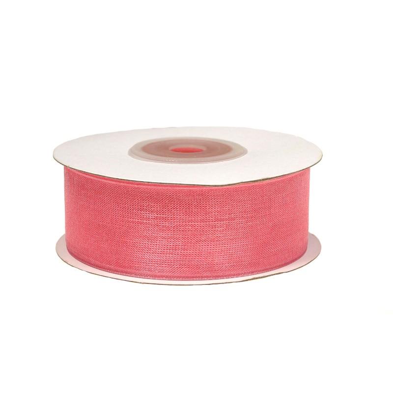 Wstążka szyfonowa 25 mm x 25 y - różowa