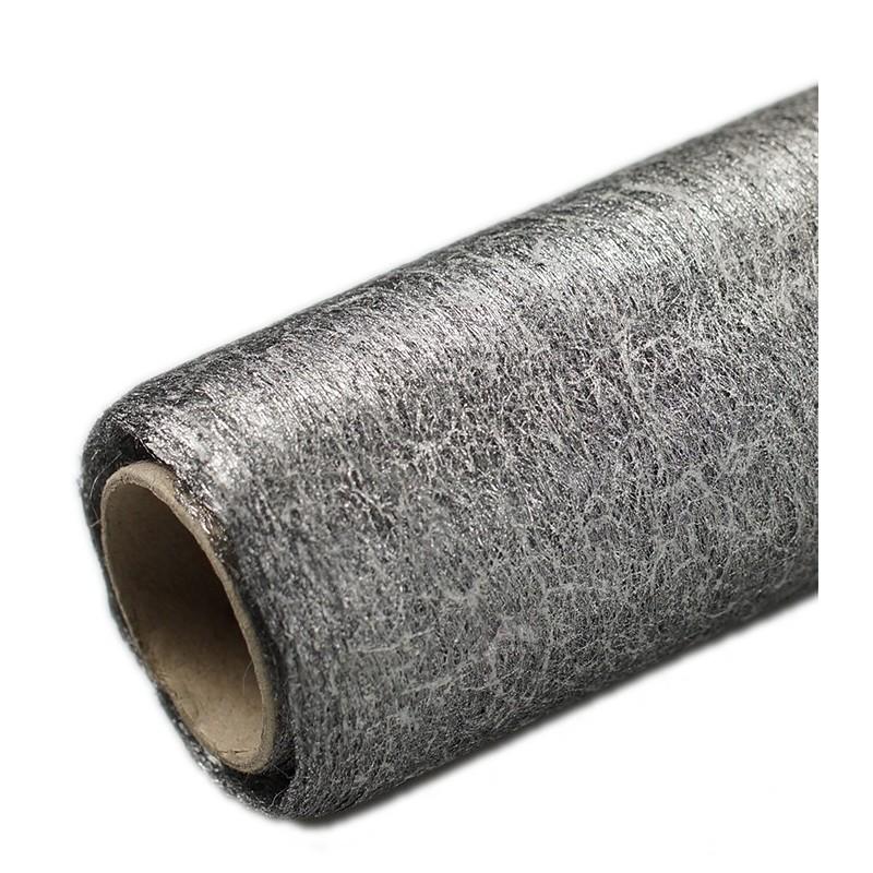 Flizelina 50 cm x 7 m | Srebrny metalizowany