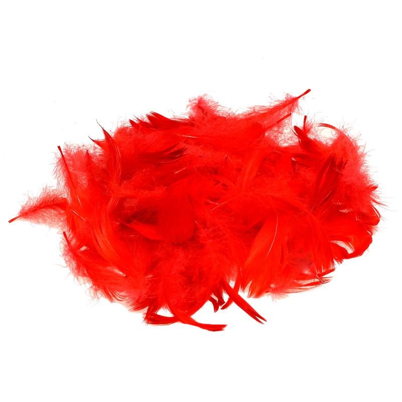 Piórka dekoracyjne czerwone 15 g
