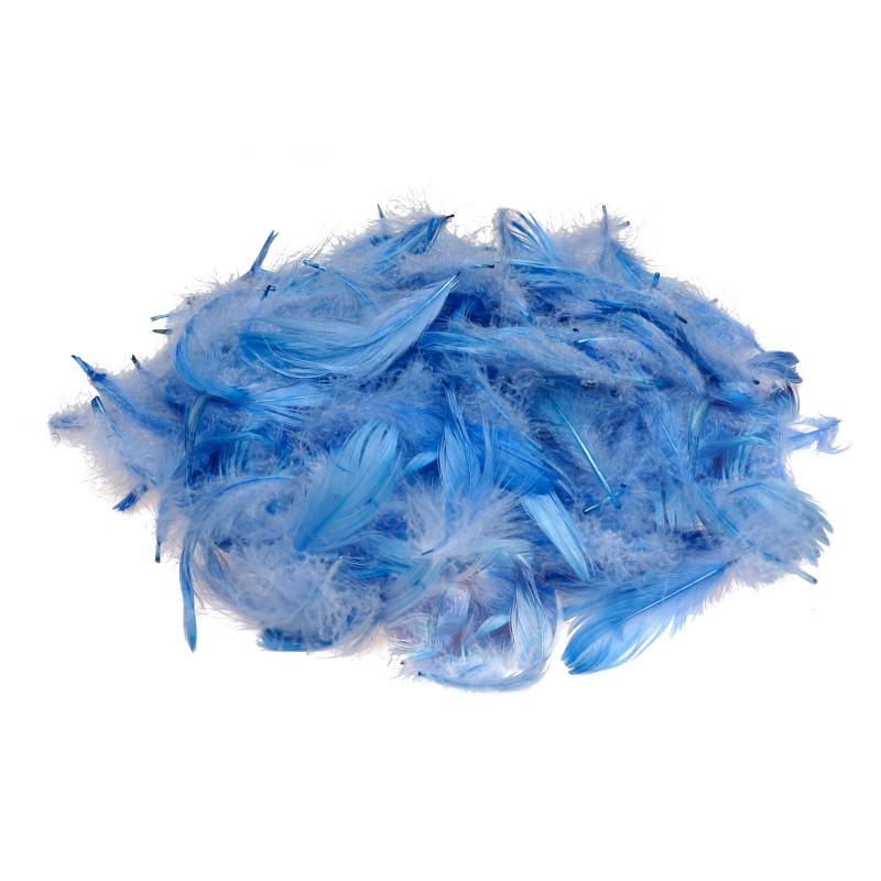 Piórka dekoracyjne niebieskie 15 g