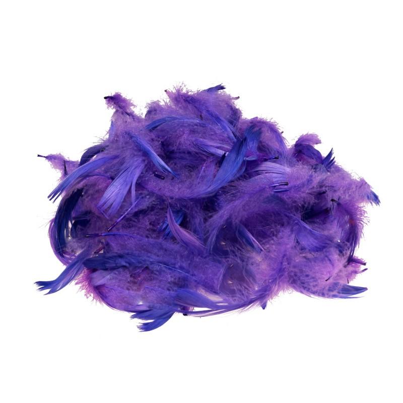 Piórka dekoracyjne fioletowe 15 g