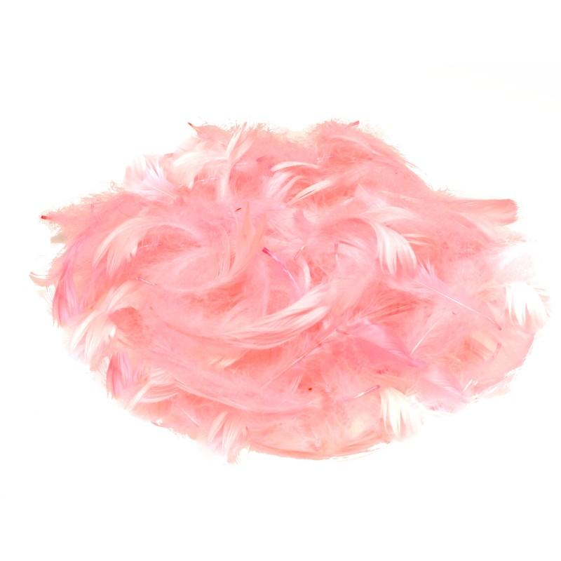 Piórka dekoracyjne jasno różowe 15 g
