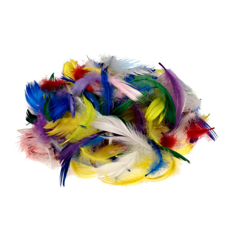 Kolorowe piórka dekoracyjne 15 g