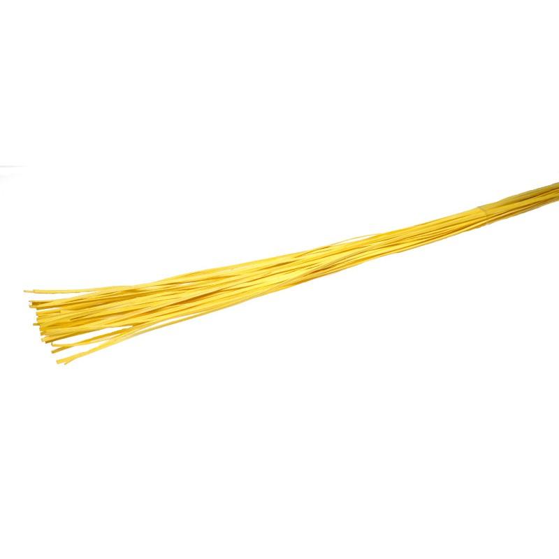 Rattan prosty 1 m - żółty