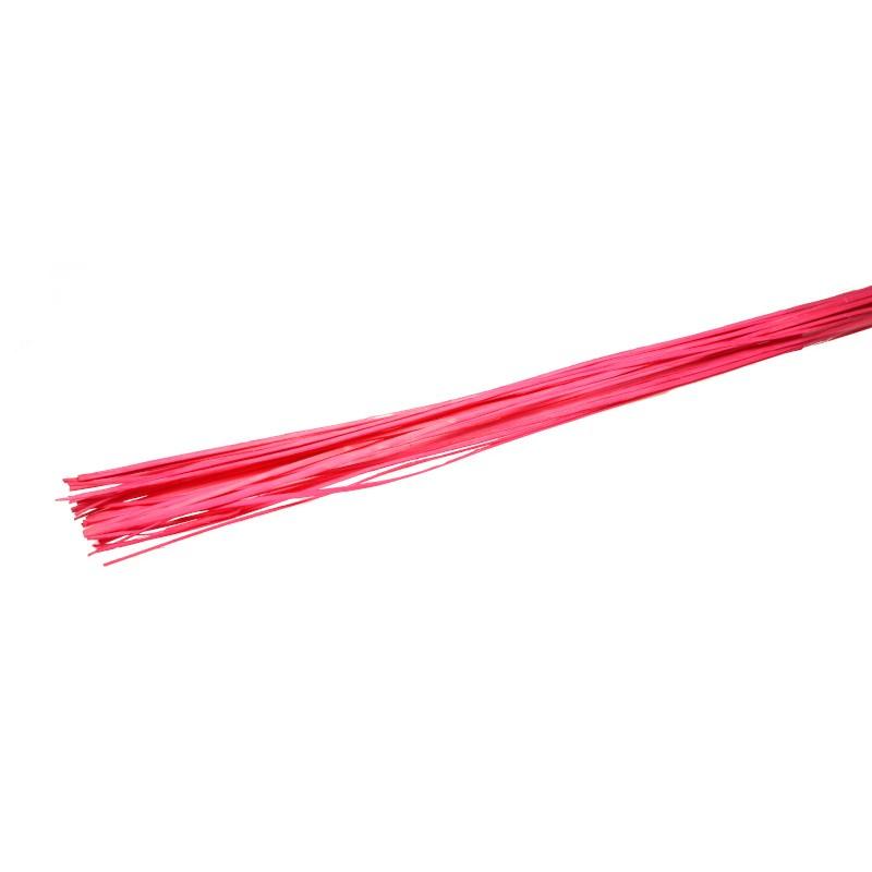 Rattan prosty 1 m - różowy