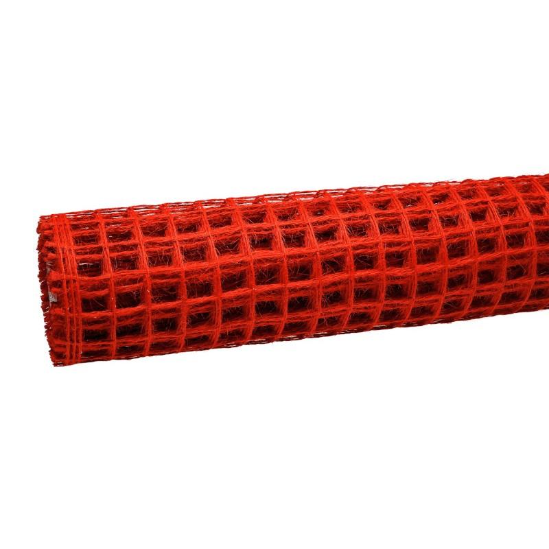 Siatka lniana 50 cm x 5 m - czerwona 018
