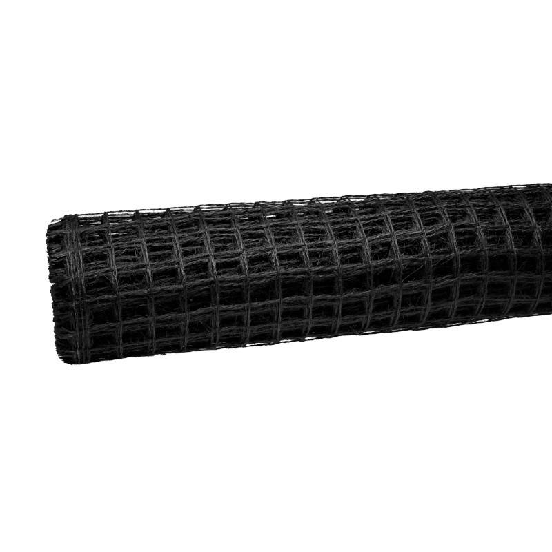 Siatka lniana 50 cm x 5 m - czarna 045