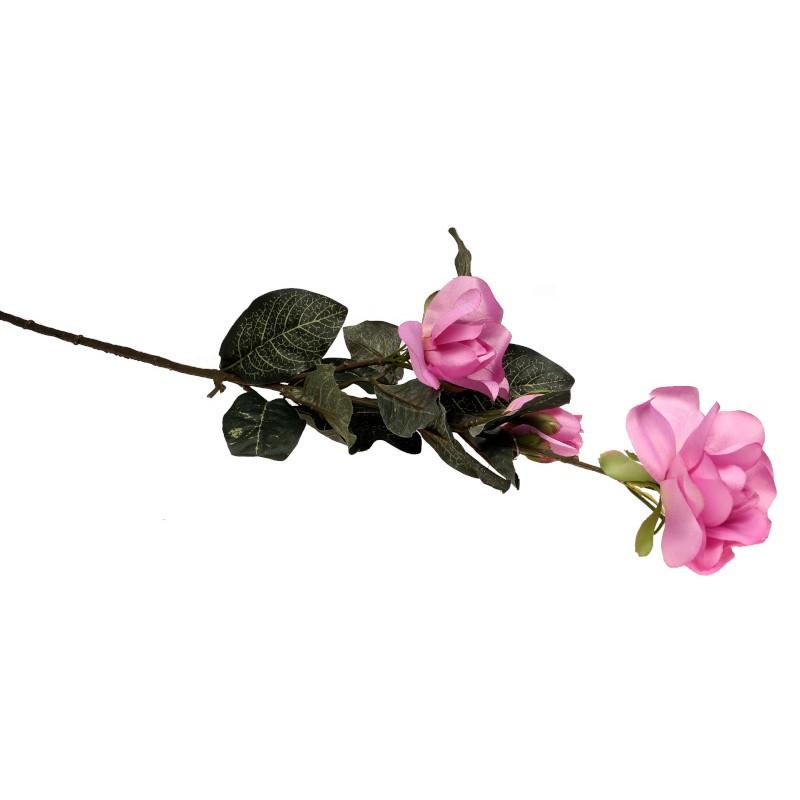 Gałązka róży 60 cm - różowa