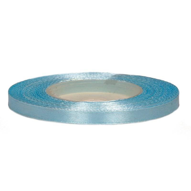 Wstążka satynowa 6 mm x 32 m | Błękitna