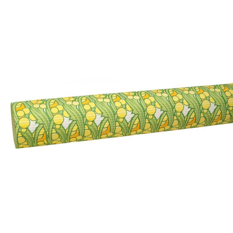 Papier karbowany - żółte kulki