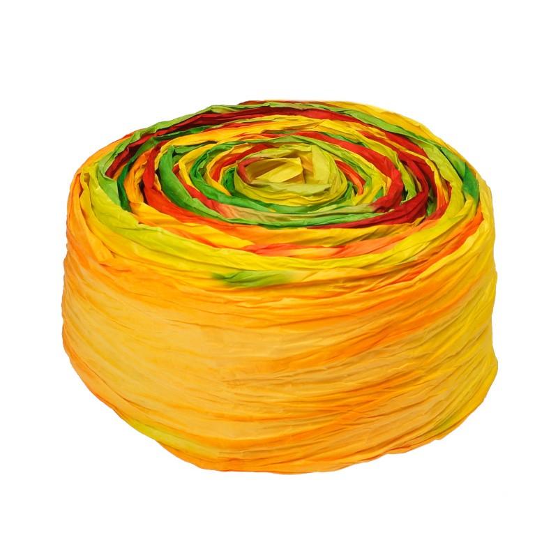 Krepina - wstążka żółto-pomarańczowa-zielono-czerwona