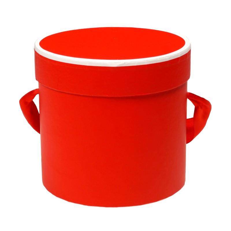 Mini flower box 12 cm x 11 cm - czerwony
