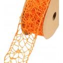 Wstążka koronkowa 5 cm x 9 m - pomarańczowa