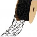 Wstążka koronkowa 5 cm x 9 m - czarna