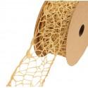 Wstążka koronkowa 5 cm x 9 m - brązowa