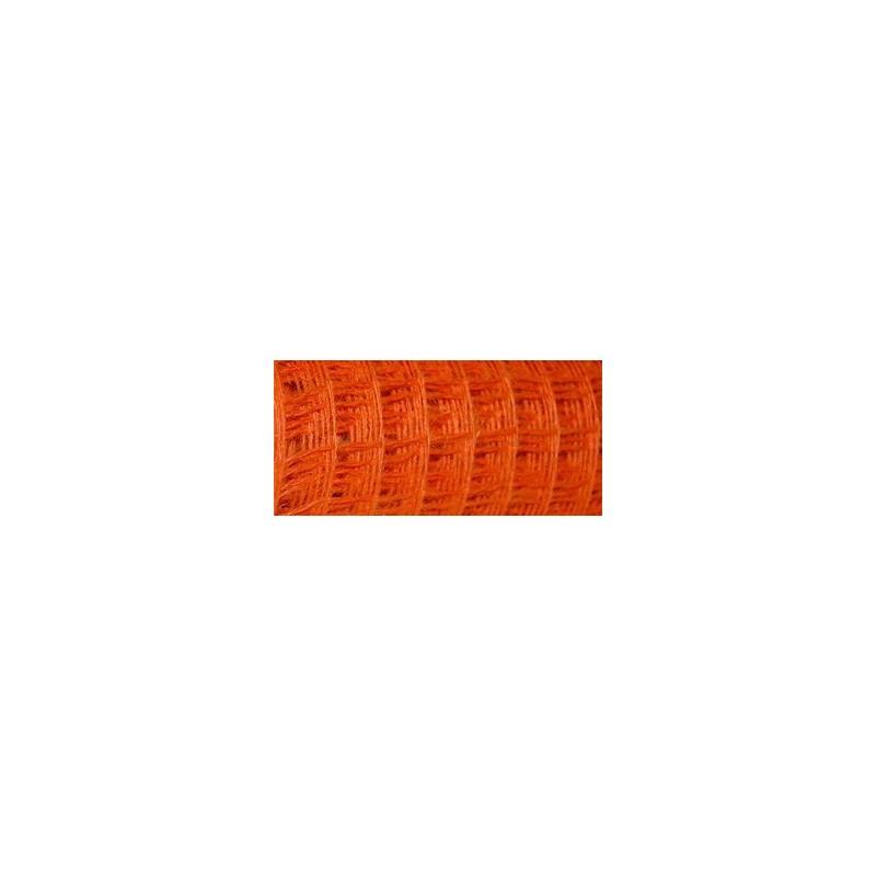 Siatka lniana - 50 cm x 5 m | Pomarańczowy 010