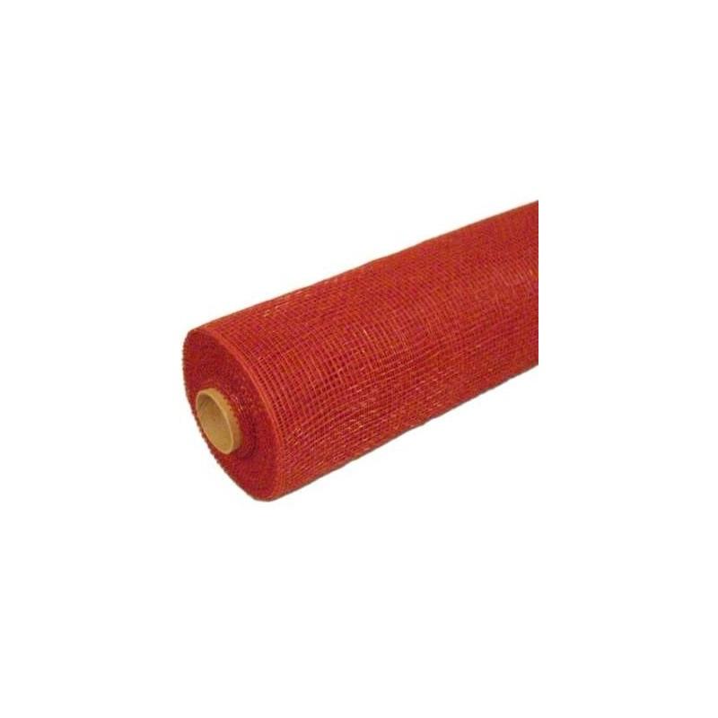 Siatka plastikowa 50 cm x 10y - 18 Czerwony - wino