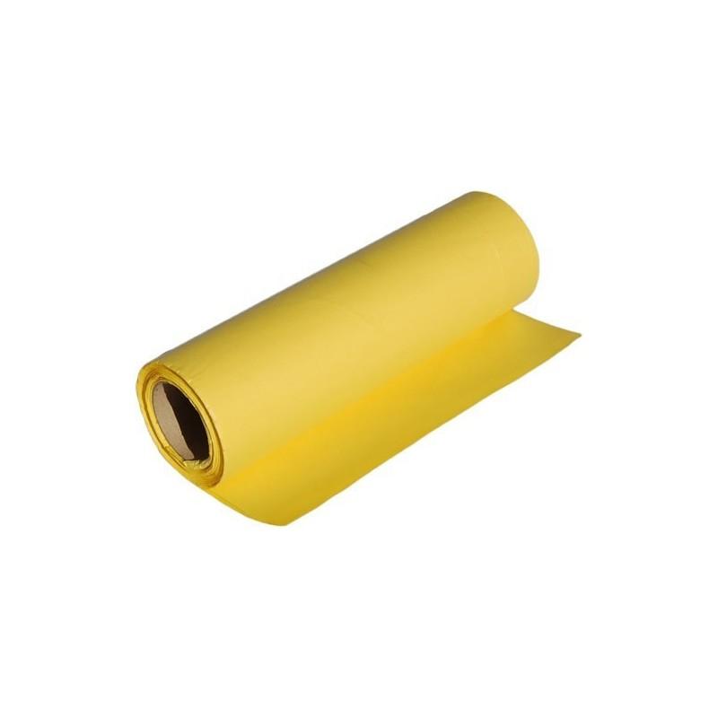 Papier dekoracyjny  25 cm x 20 m - Żółty