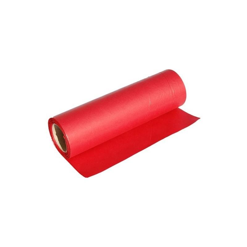 Papier dekoracyjny  25 cm x 20 m - Czerwony
