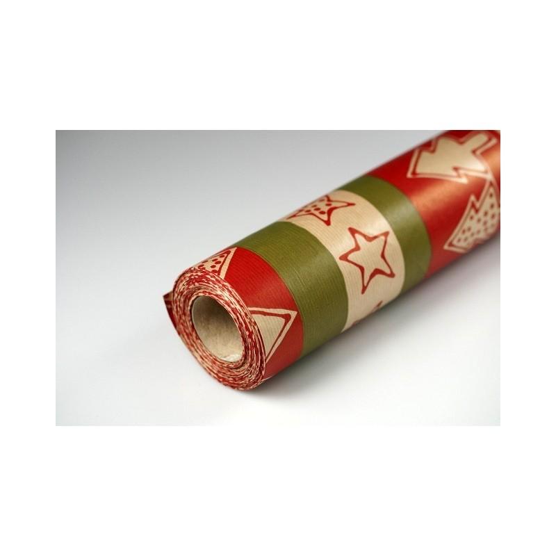 Papier dekoracyjny świąteczny  25 cm x 20 m - S08
