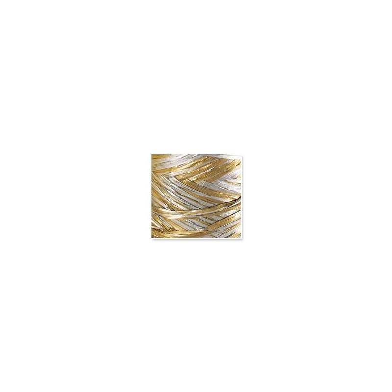 Rafia włoska - R285 - Złoty i srebrny