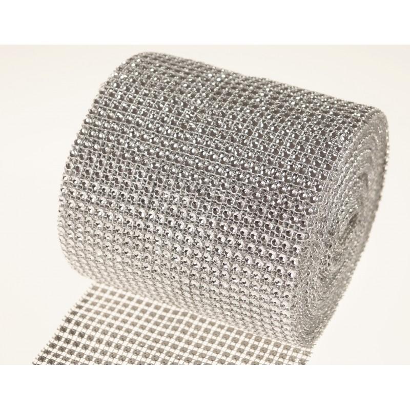 Taśma- wstążka diamentowa 10y | Srebrny