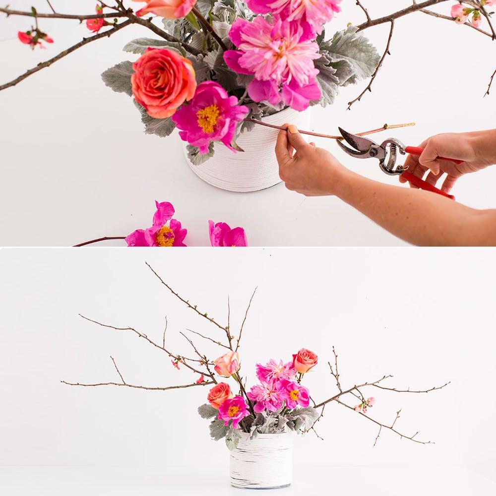 kwiaty w gąbce florystycznej
