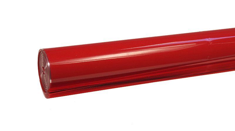 czerwony celofan