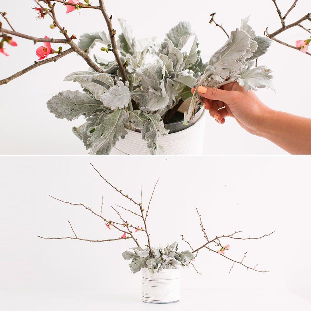 jak zrobic dekoracje z kwiatów w gabce florystycznej