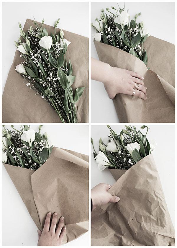 sposoby na łatwe owiniecie kwiatów