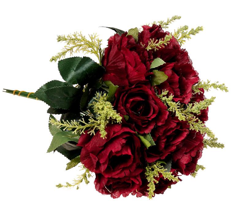 róża w kolorze bordowym