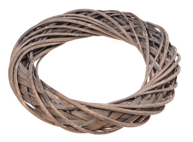 wianek wiklinowy brązowy