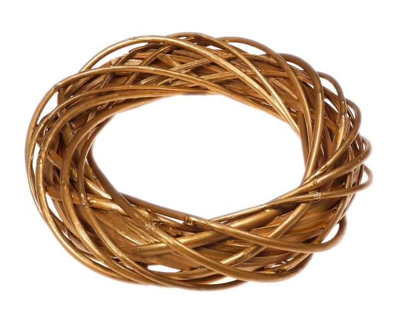 złoty wianek wiklinowy